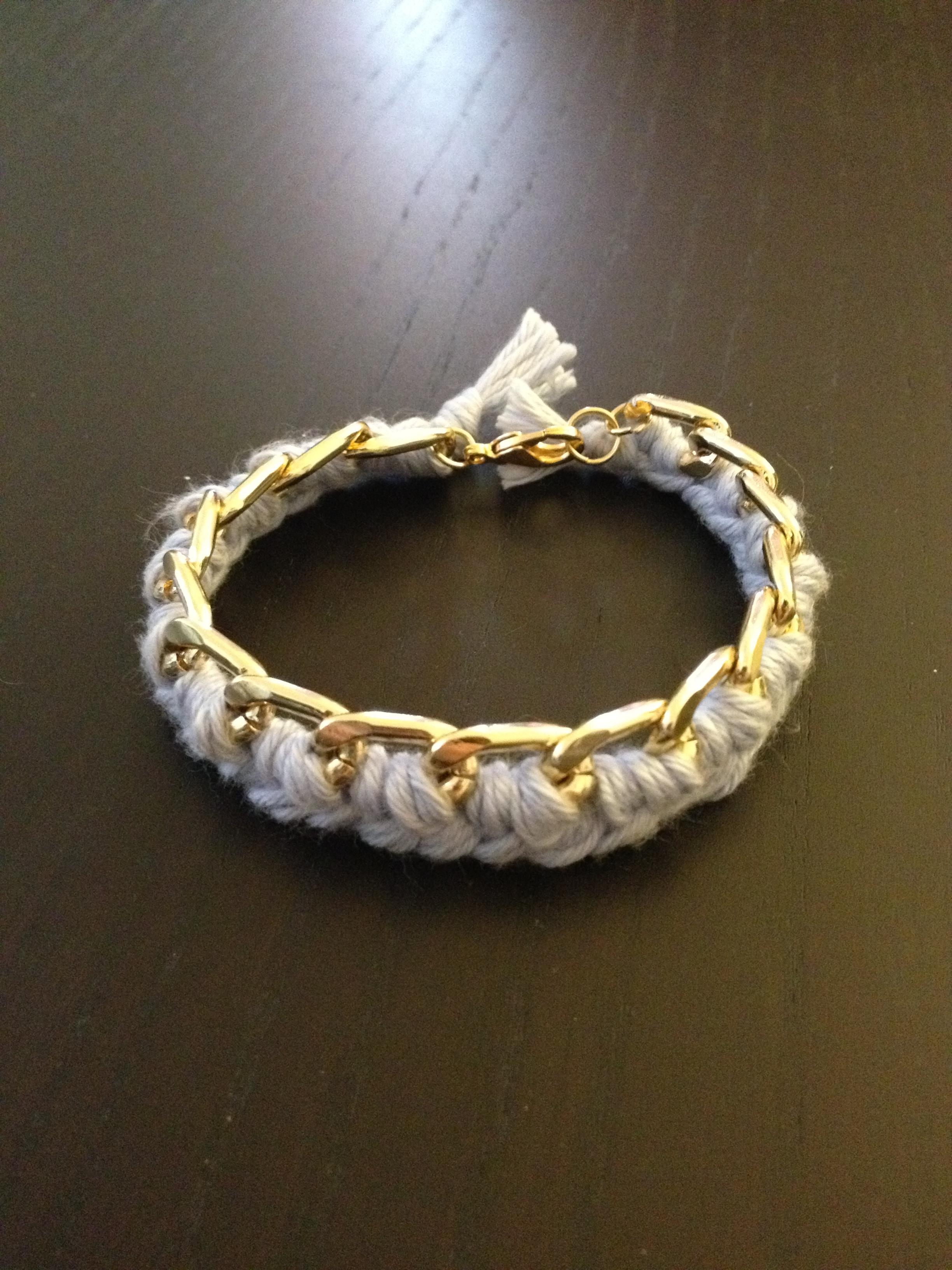 Dyi 1 le bracelet cha ne et sa tresse en fil de coton sp4nk blog - Bracelet a faire soi meme ...